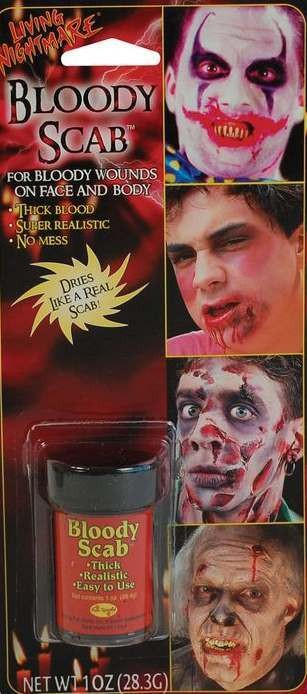 Bloody Scab Make Up Kit Halloween Accessory