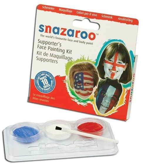 Supporter'S Face Painting Kit (Clowns Fancy Dress Face Paint)