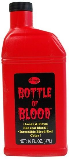 Bottle Of Blood (0.5L) (Halloween Fancy Dress)