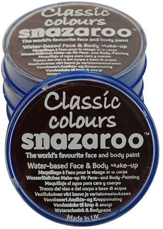 Snazaroo Dark Brown 18Ml Tub (Clowns Fancy Dress Face Paint)