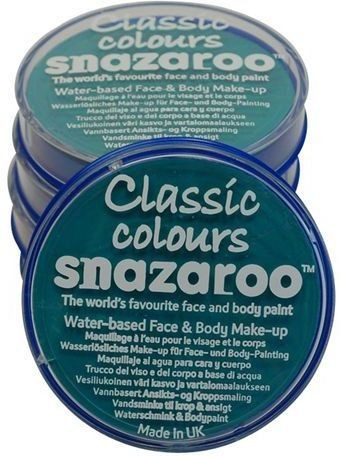 Snazaroo Sea Blue 18Ml Tub (Clowns Fancy Dress Face Paint)