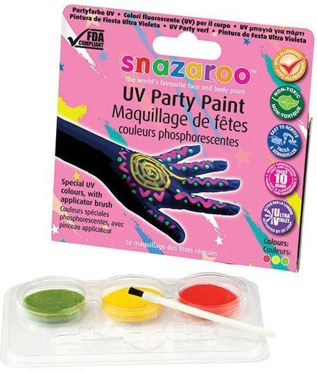 Uv Make Up Kit (Clowns , 1980S Fancy Dress Face Paint)