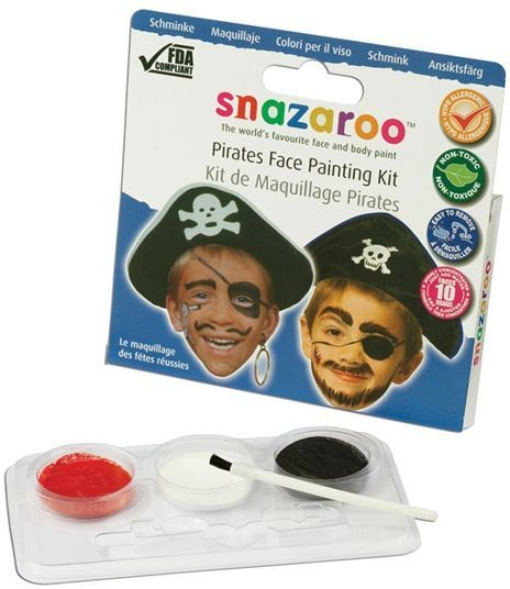 Pirate Make Up Kit (Pirates Fancy Dress Face Paint)