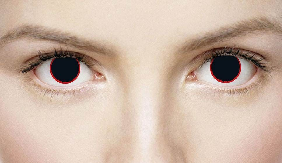 Xtreme Eyes 1 Day Lens Hell Raiser Fancy Dress Accessory