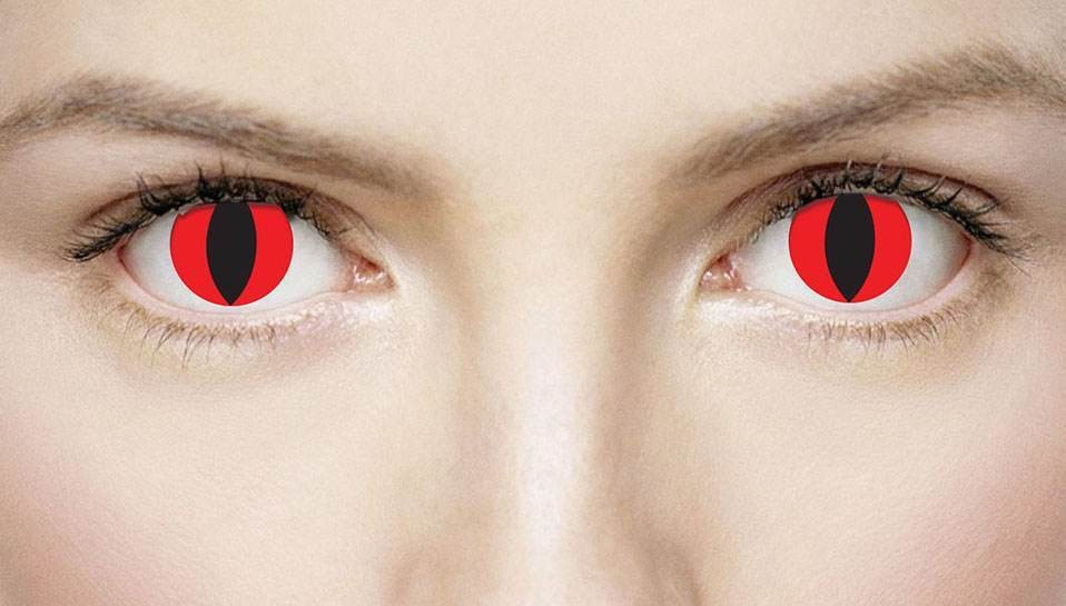 Xtreme Eyez 1 Day Devil Fancy Dress Accessory
