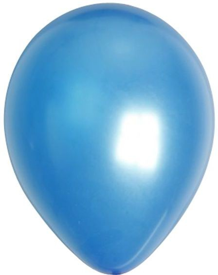 No 12 Blue Metallic Balloons (Fancy Dress)