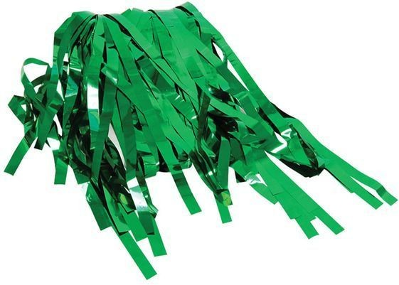 Tinsel Curtain Green (Fancy Dress Decorations)