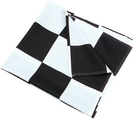 Chequered Flag Black/White 3' X 5' (Fancy Dress)