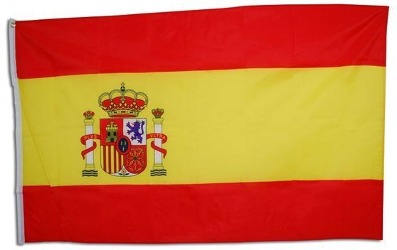 Spanish Flag. 5' X 3' Cloth (Spanish Fancy Dress Decorations)