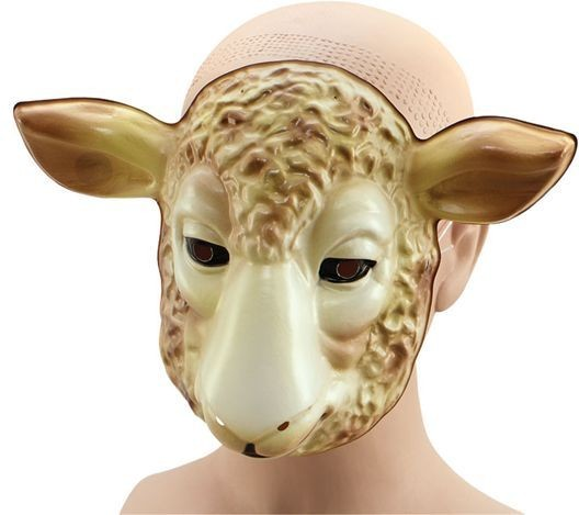 Plastic Animal. Lamb (Animals Fancy Dress Masks)