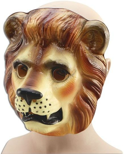 Plastic Animal. Lion (Animals Fancy Dress Masks)