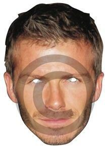 Becks (David Beckham) / Card Mask (Fancy Dress Masks)