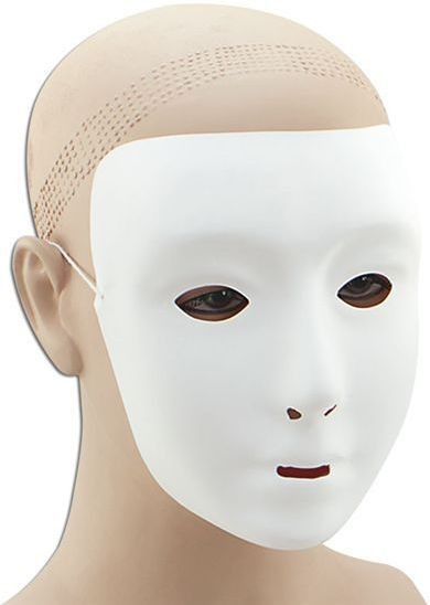 Plain White Face Mask (Halloween Masks)