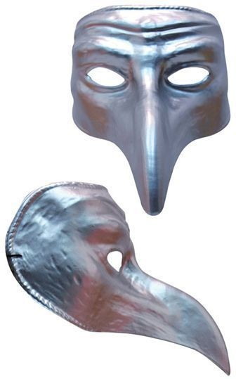 Silver Comedy (Fancy Dress Masks)