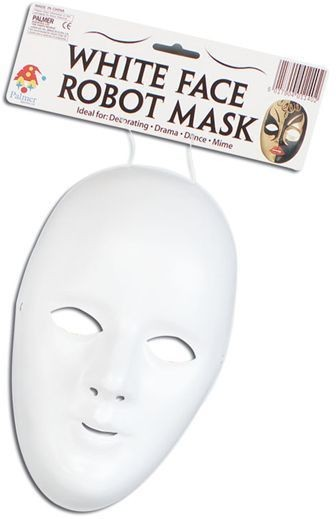 Deluxe Female Face Mask. White (Halloween Masks)