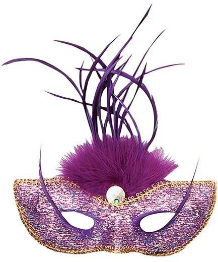 Purple Tall Feather (Fancy Dress Eyemasks)