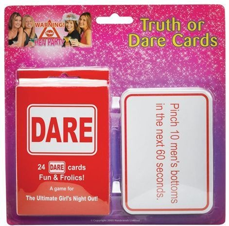 Truth Or Dare Cards (Hen & Stag Fancy Dress)