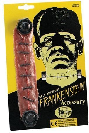 Franky Bolts/Stitched Throat (Halloween Fancy Dress)