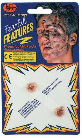 Warts. 2 In Packet (Halloween Fancy Dress)