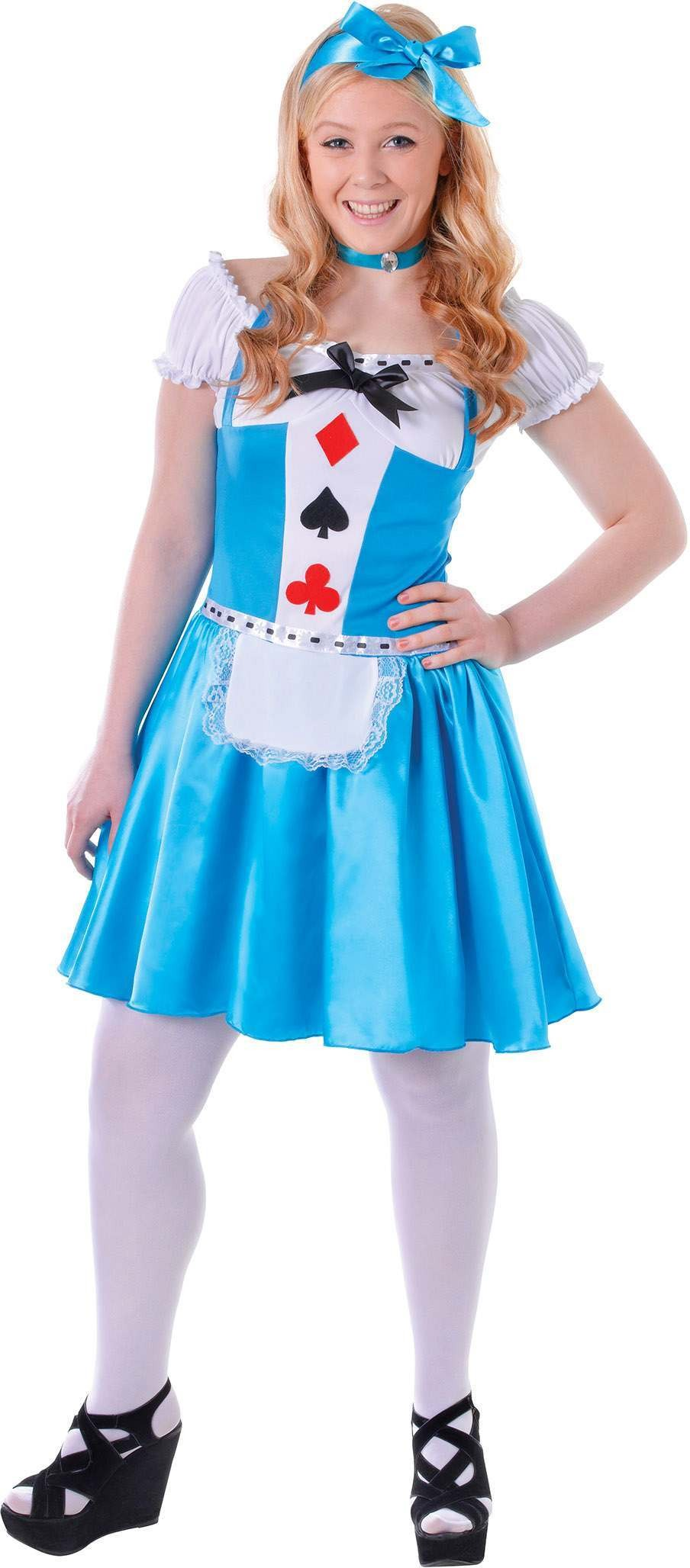 Teen Alice Hearts Girl Fancy Dress Costume