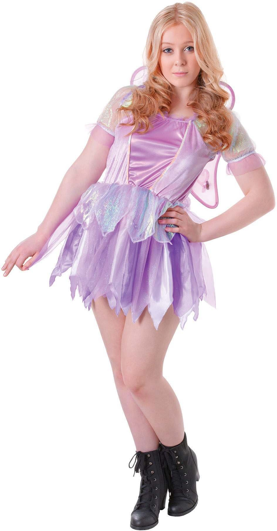 Teen Purple Fantasy Fiary Fancy Dress Costume