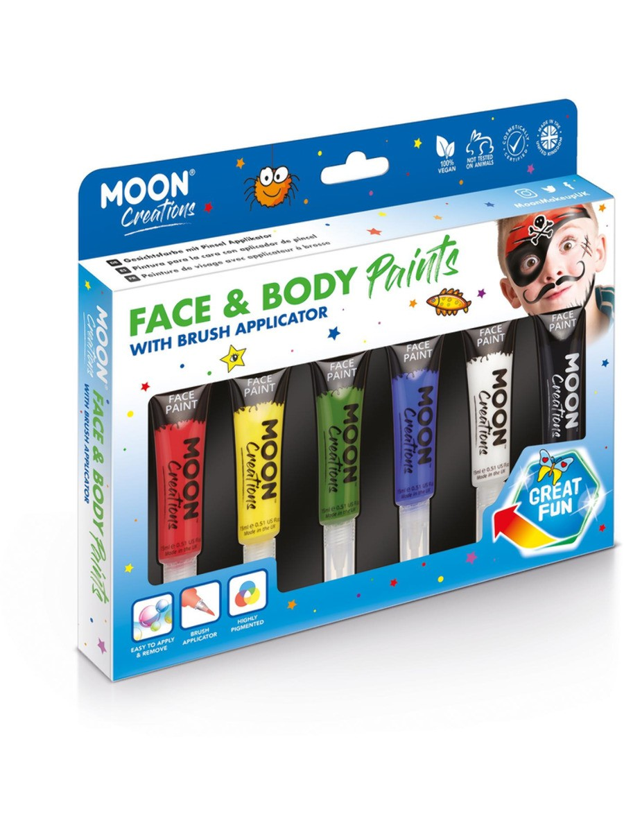 Moon Creations Face & Body Paints Assorted