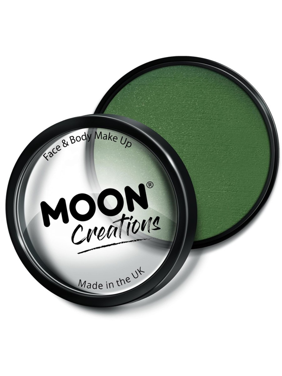 Moon Creations Pro Face Paint Cake Pot Army Green