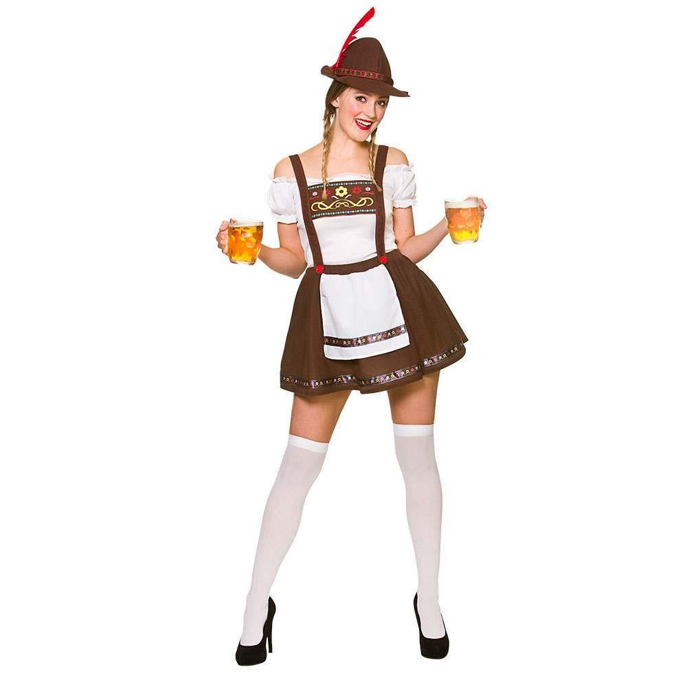 Bavarian Beer Maid Fancy Dress Costume (Oktoberfest)