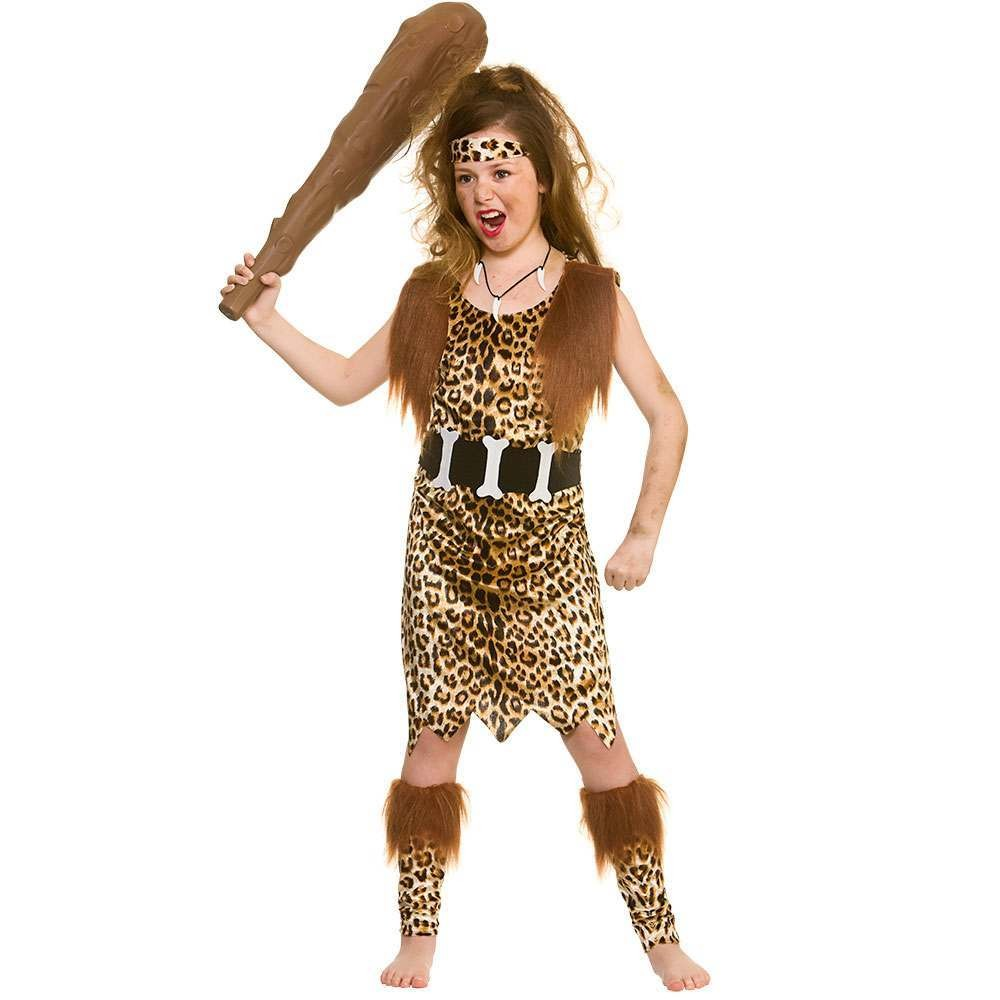 Stone Age Cave Girl Fancy Dress Costume