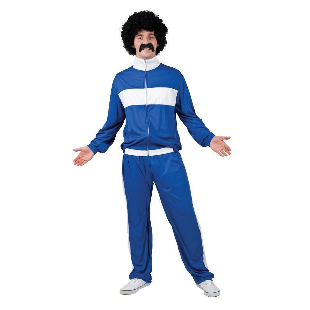 80's Retro Trackie - Blue One Size Costume (1980)