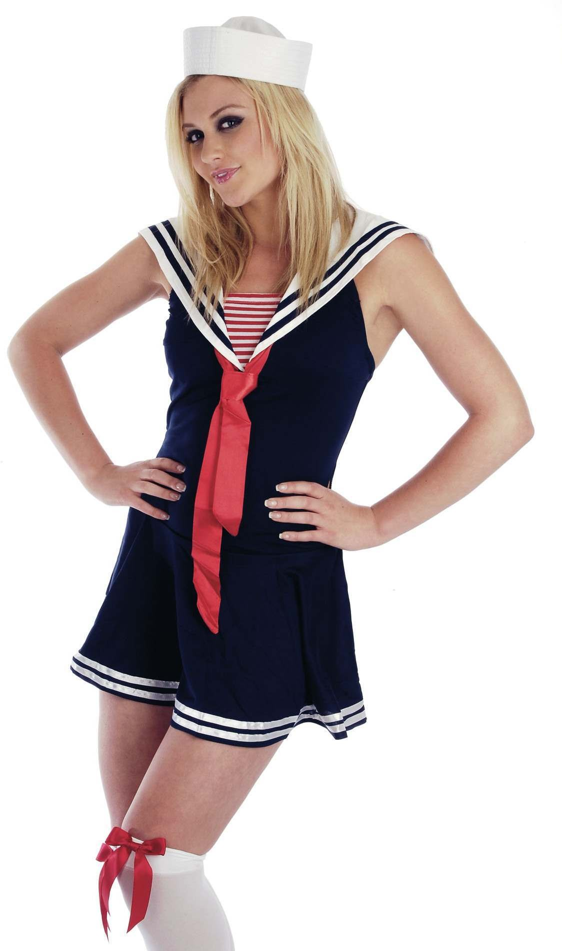 Sailor Girl Fancy Dress Costume Ladies (Sailor)