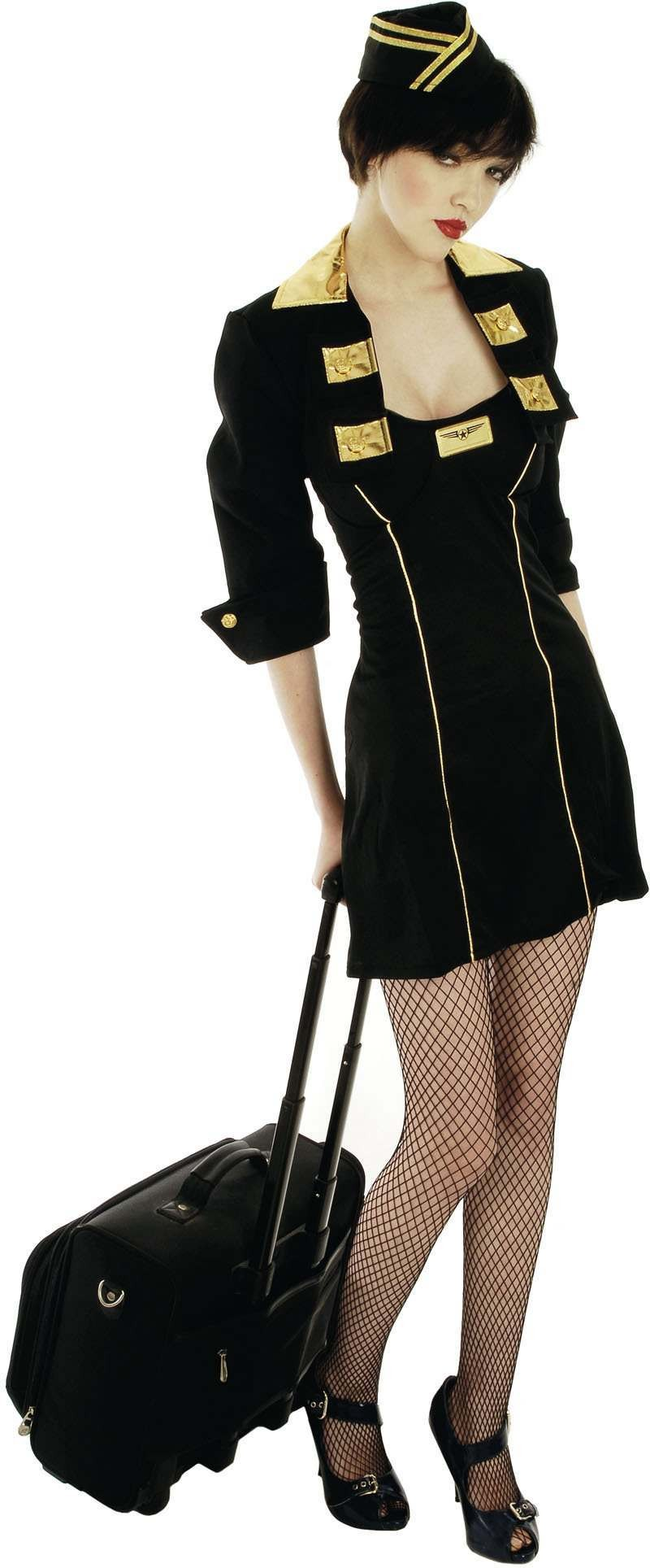 Cabin Crew Fancy Dress Costume Ladies (Pilot/Air)