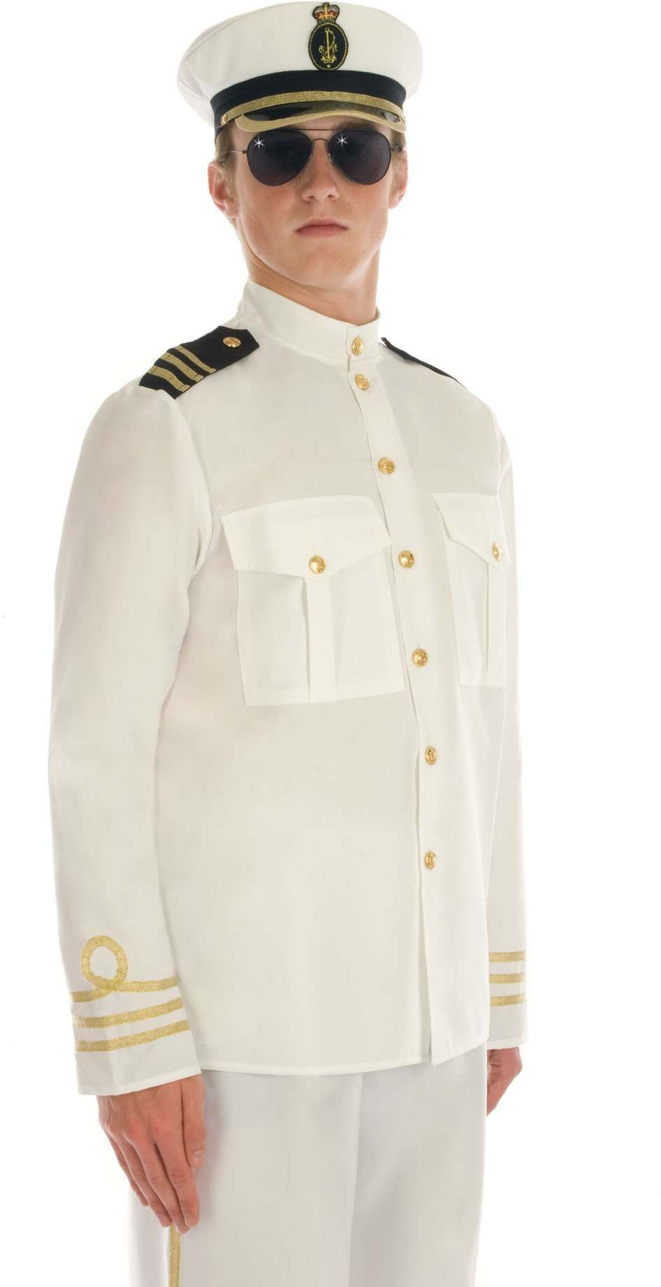 Navy Male Officer Fancy Dress Costume Mens (Army)