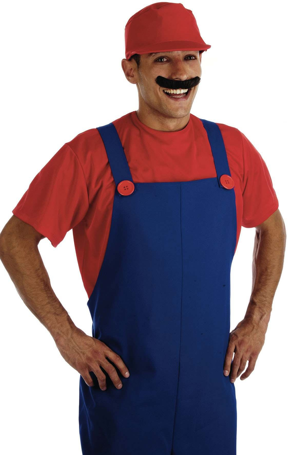 Red Plumbers Mate Male Fancy Dress Costume Mens (Cartoon)