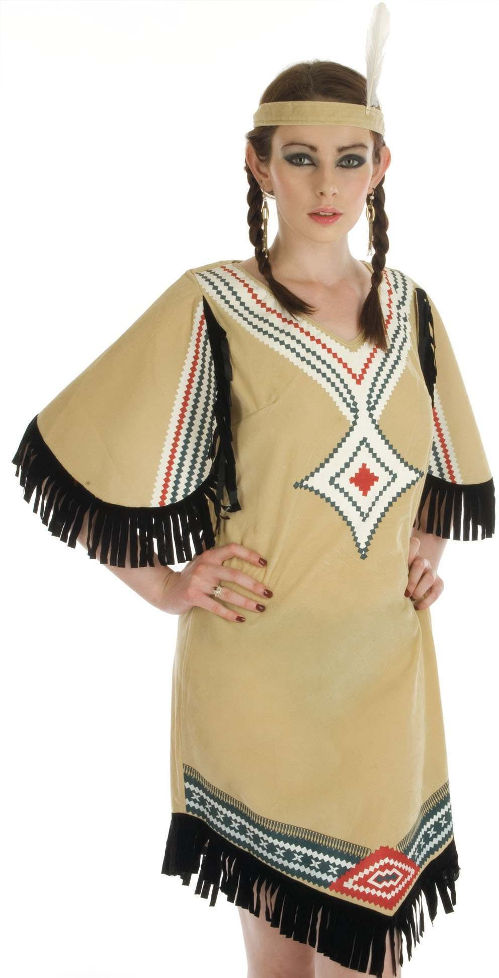 Indian Girl Fancy Dress Costume Ladies (Cowboys/Indians)