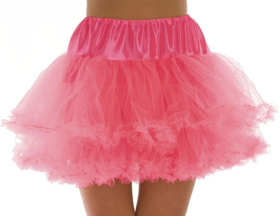 Neon Pink Multi Layer Tutu Skirt One Size Fits Most (1980S)