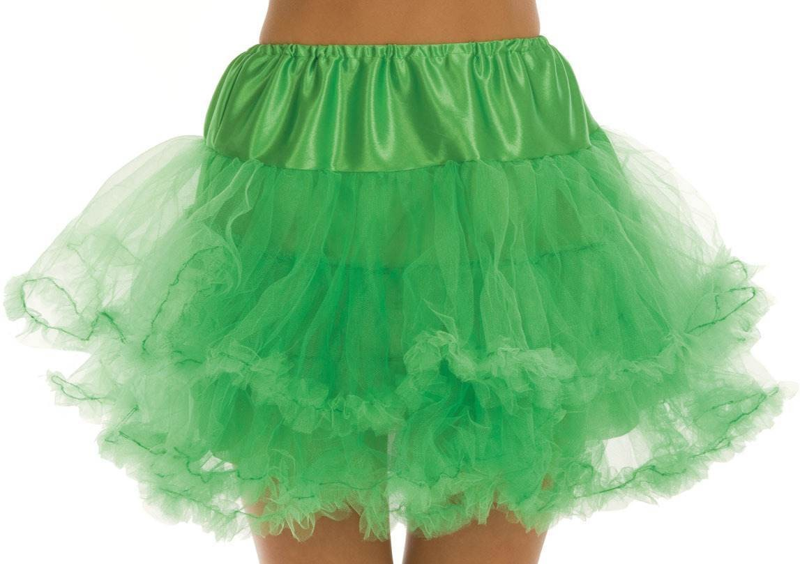 Neon Green Multi Layer Tutu Skirt One Size Fits Most (1980S)