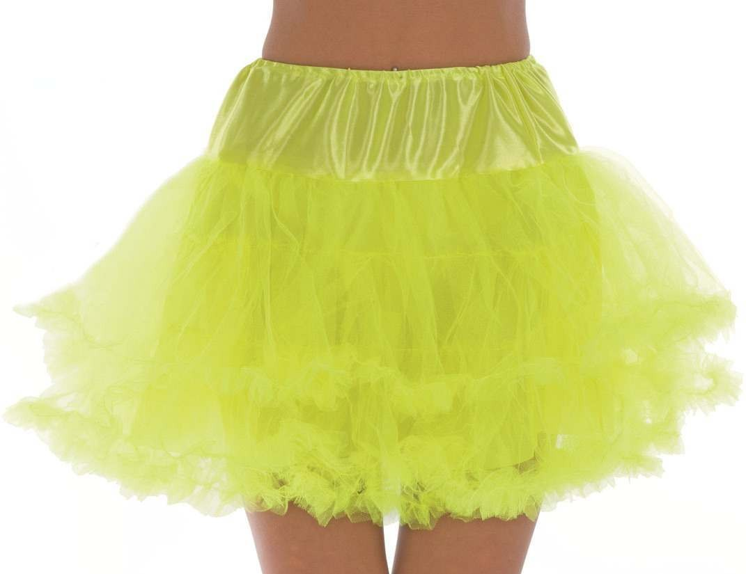 Neon Yellow Multi Layer Tutu Skirt One Size Fits Most (1980S)