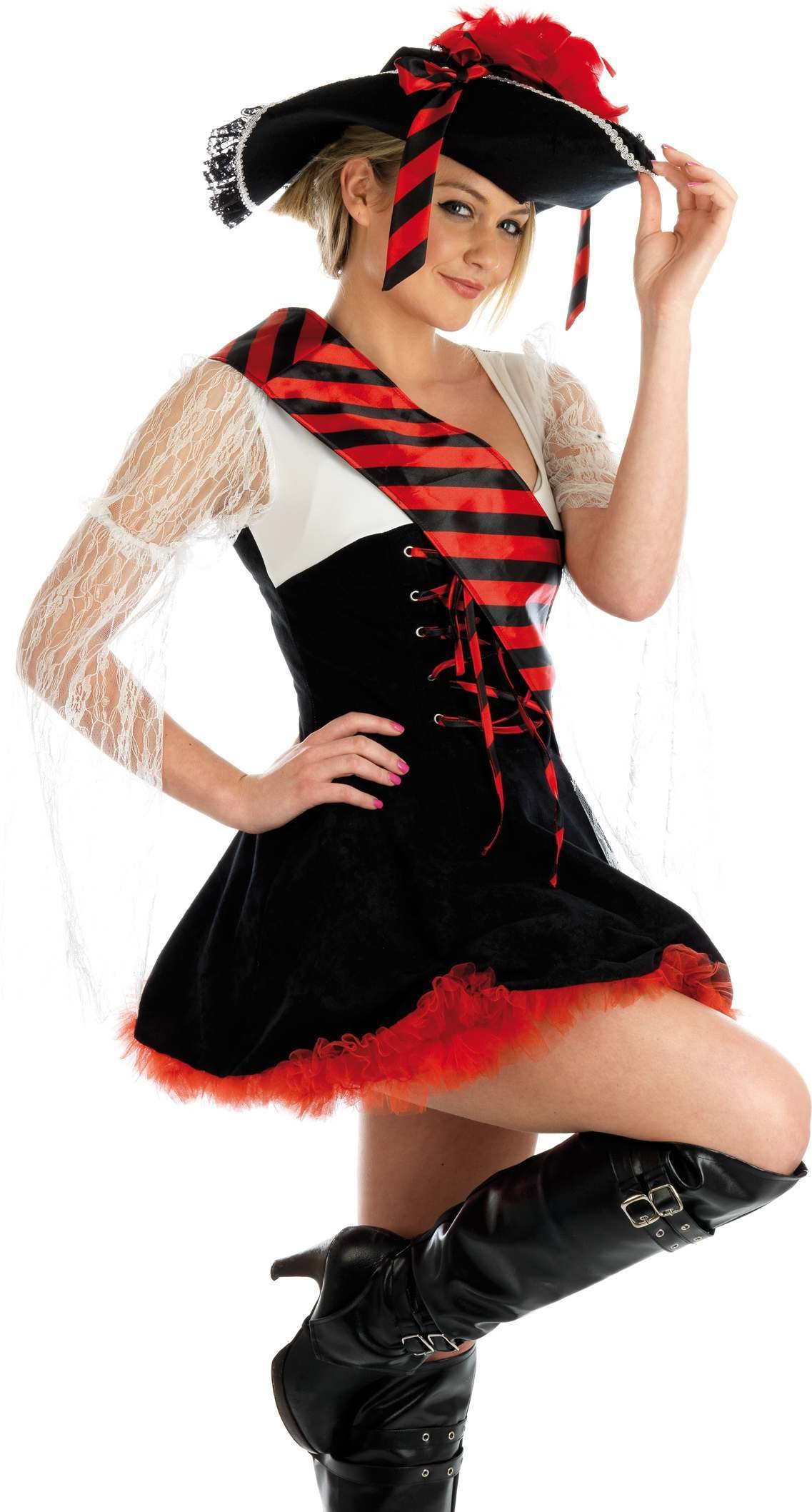 Flirty Pirate Fancy Dress Costume Ladies (Pirates)