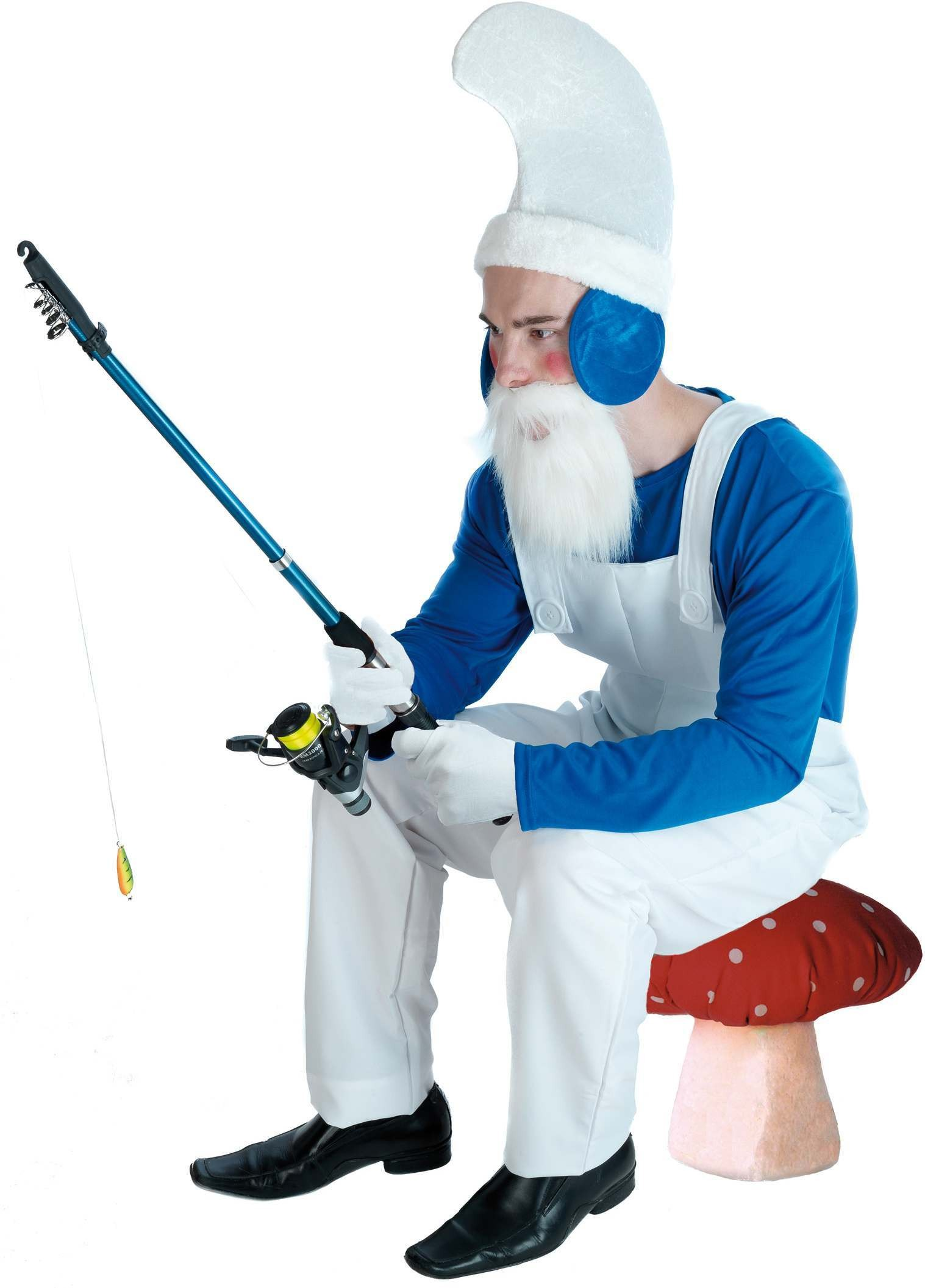 Blue Gnome Fancy Dress Costume Mens (Cartoon)