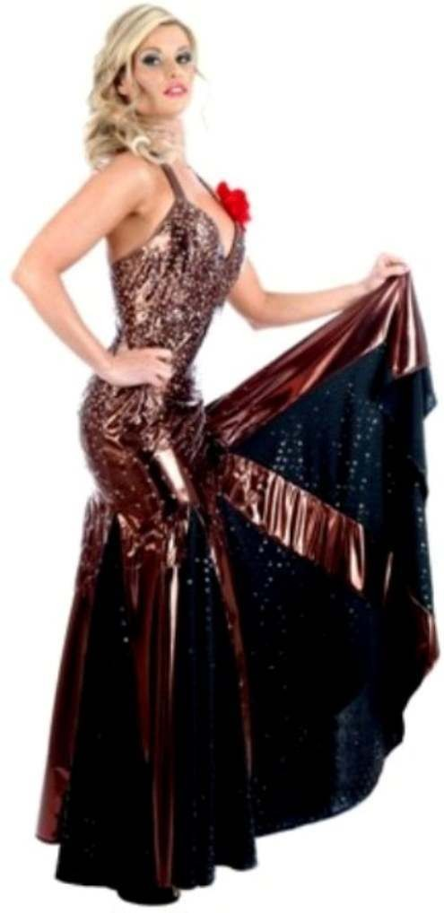 Anton & Erin Black Tango Dress Fancy Dress Costume (Music)