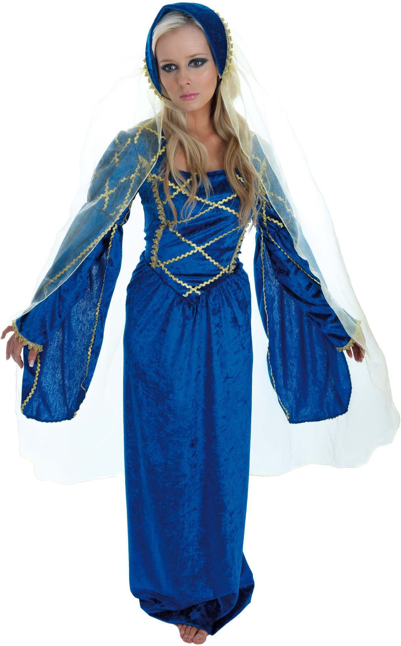Tudor Lady Fancy Dress Costume Ladies (Medieval)