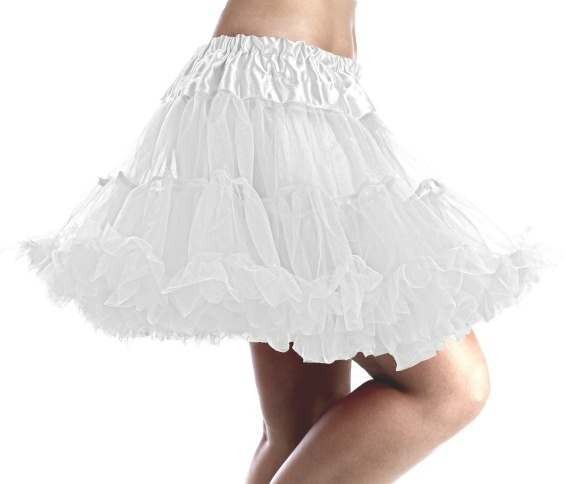 Deluxe White Tutu One Size Fits Most Ladies (Sexy)