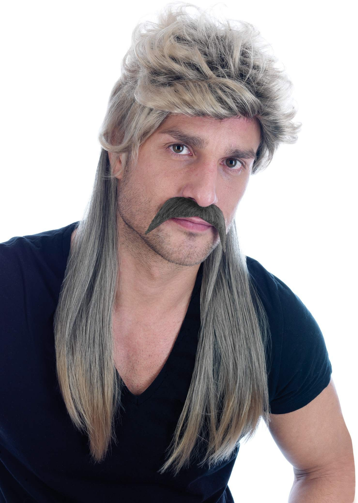 Blonde Mullet Wig (Pet) (130G) One Size Mens (1980S)
