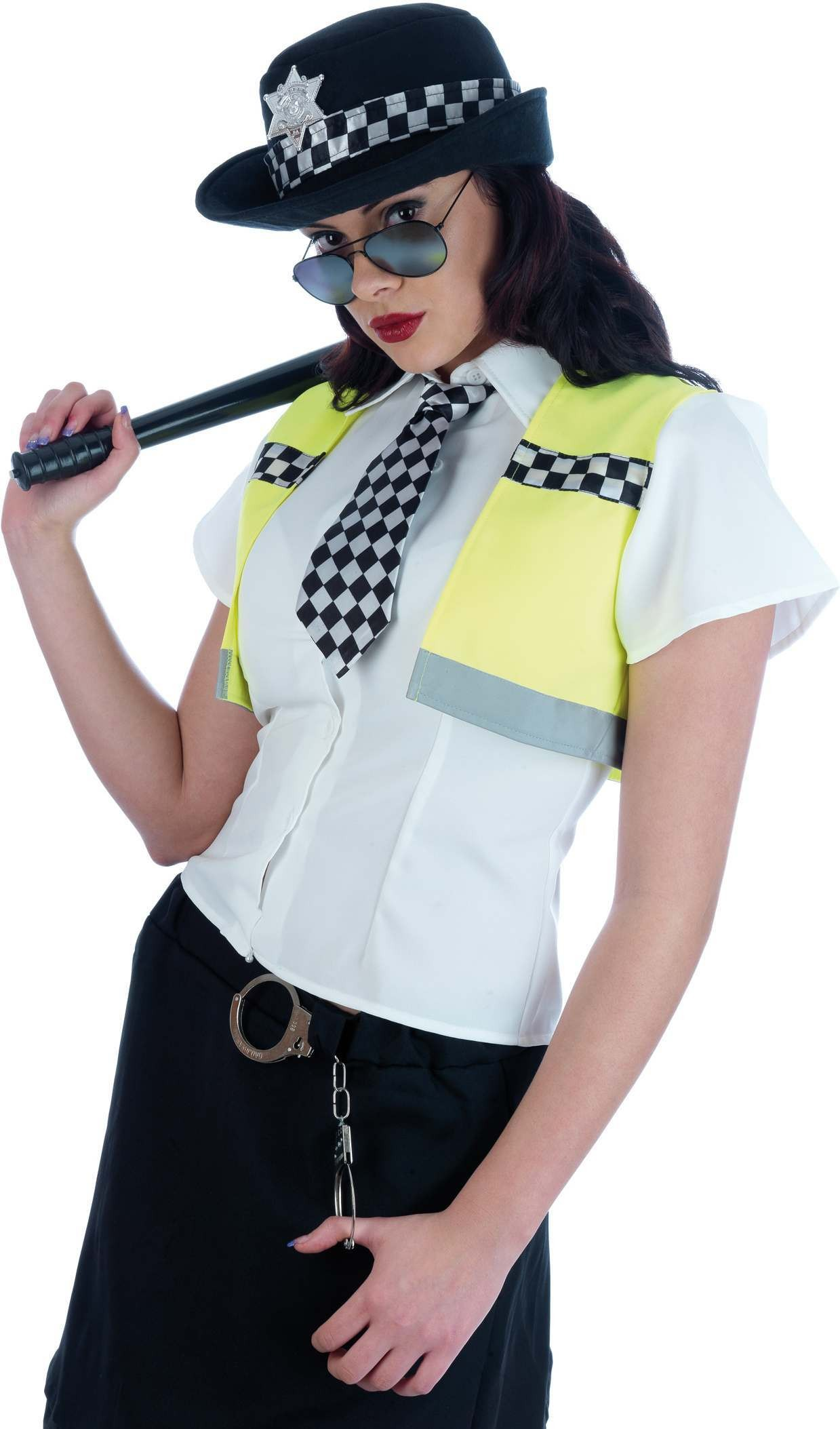 Sexy Police Lady Fancy Dress Costume Ladies (Cops/Robbers)
