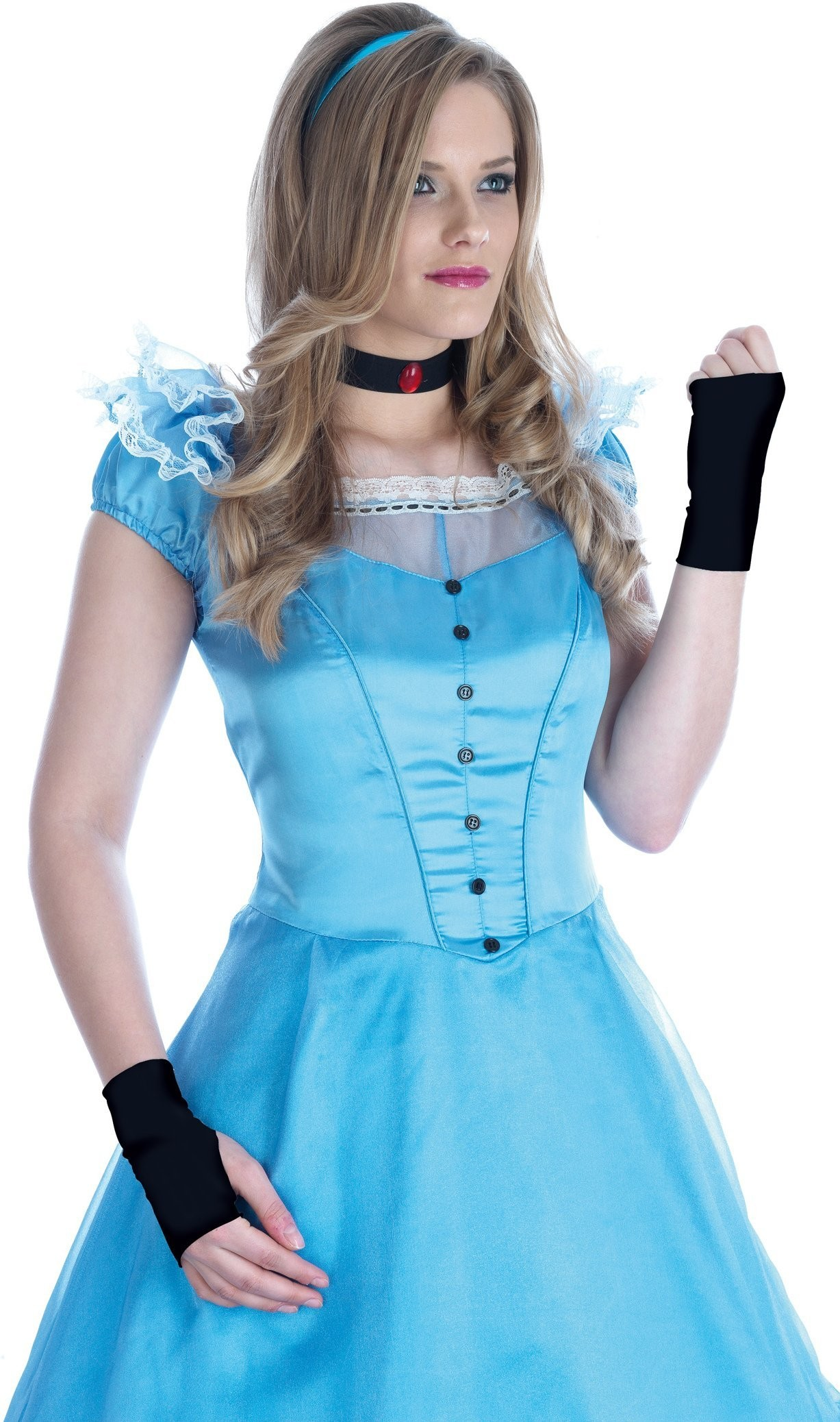 Long Dress Alice ( Petticoat Dress & Apron & Headband )
