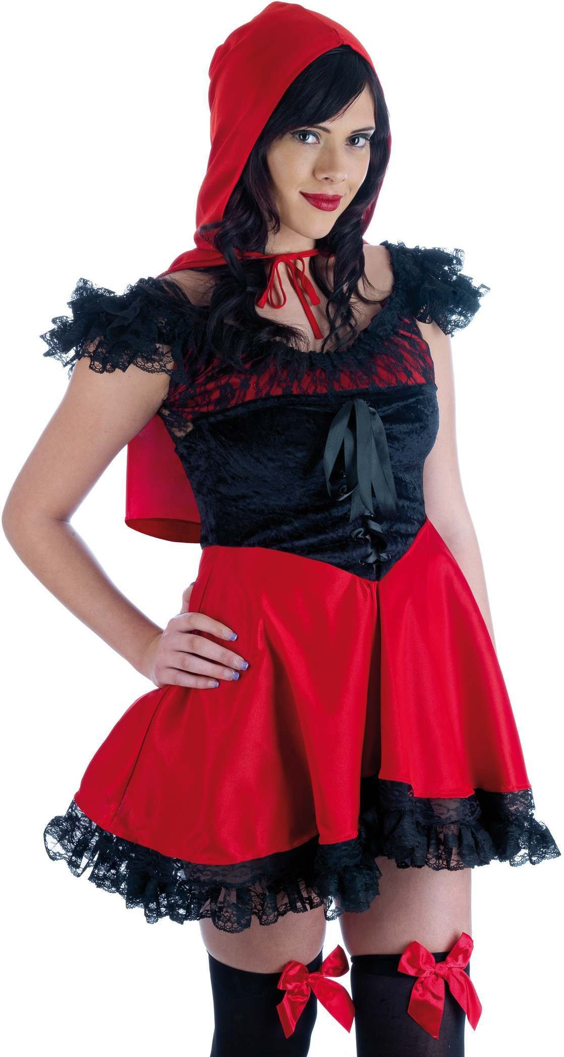 Lil Red Riding Hood Fancy Dress Costume Ladies (Fairy Tales)