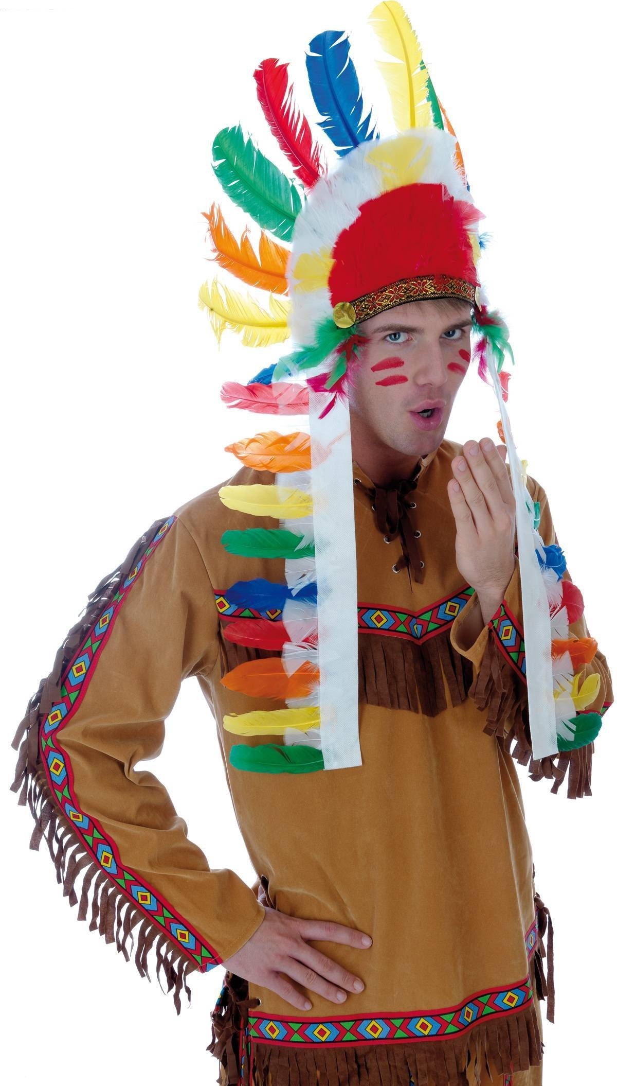 Male Indian Fancy Dress Costume Mens (Cowboys/Indians)