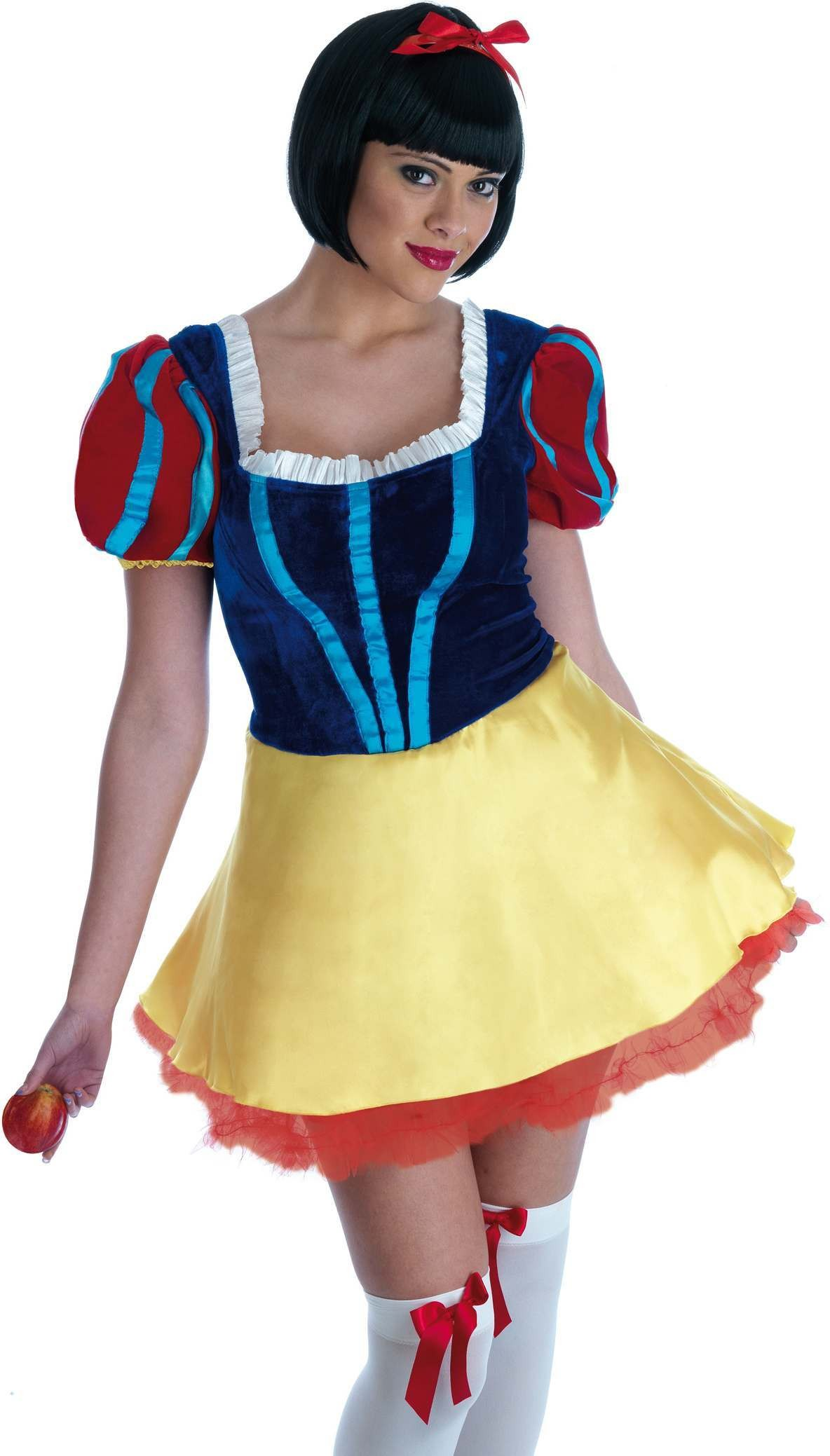 Snow White Short Dress Fancy Dress Costume Ladies (Fairy Tales)