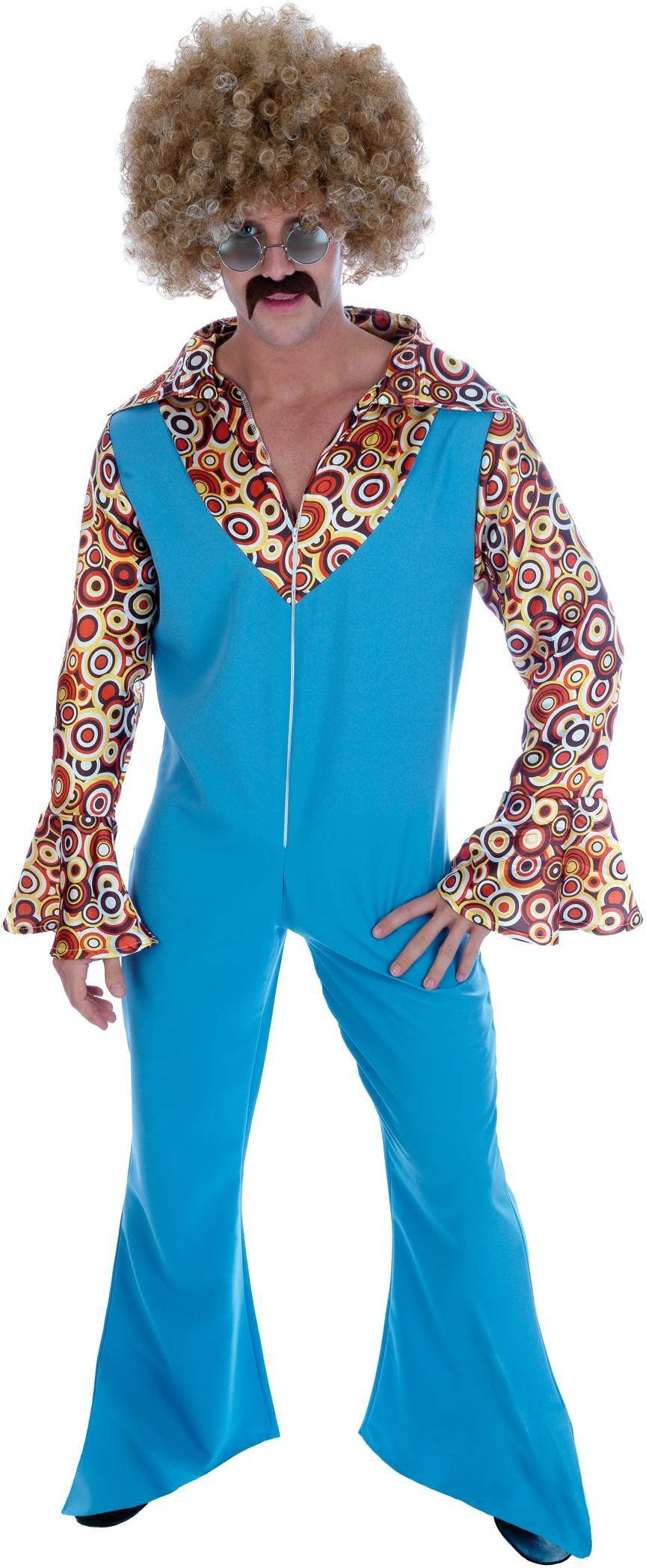 Groovy Male Disco Dancer Tash Fancy Dress Costume 1970s 70